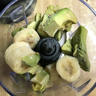 bananas and avocado in blender