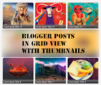 grid view on blogger posts