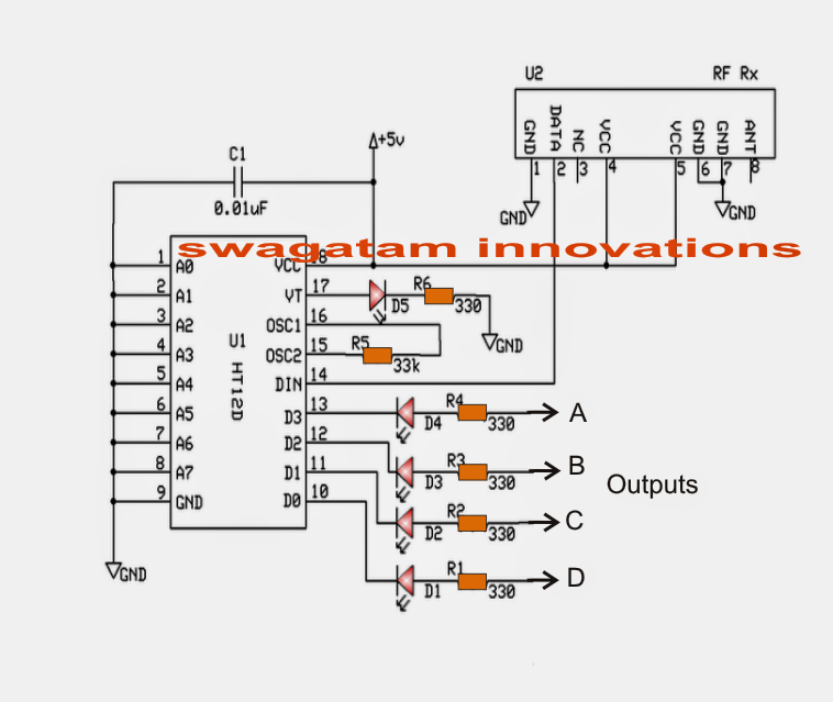simple rf remote control circuit without microcontroller electronic