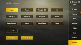 bahasa pubg mobile