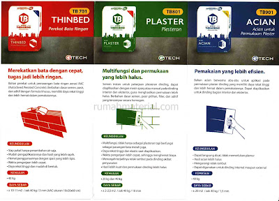 Mortar instan Thermobond (Thinbed, Plaster, Acian)