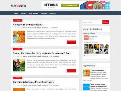 Maggner Blogger Template