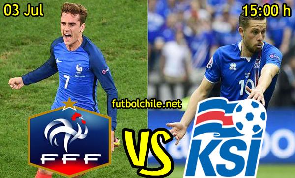 VER STREAM RESULTADO EN VIVO, ONLINE: Francia vs Islandia