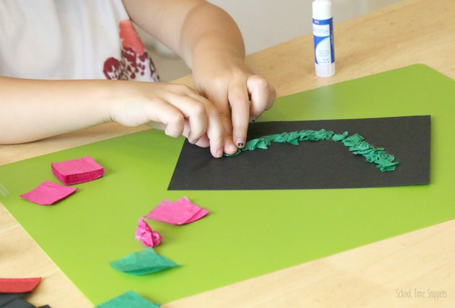 tissue paper watermelon kid craft