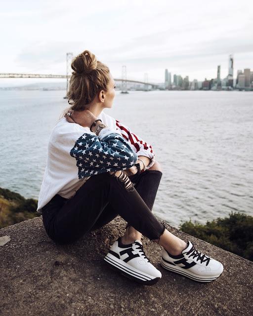 Sneakers con platform Hogan Maxi H222