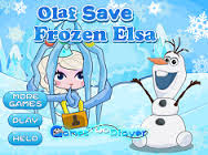 A snapshot of the Game #Olaf save #Frozen #Elsa! #Frozen ##WinterGames #ChristmasGames