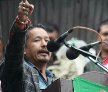 GJM leader Narendra Kambang