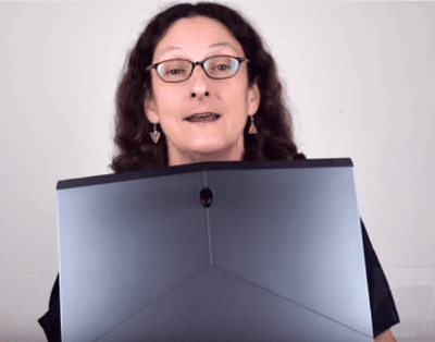 Lisa Gade Displaying The Alienware 15 R3