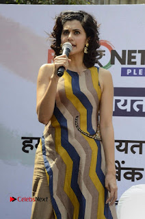 Actress Tapsee Panu Stills at Remonetise India Campaign in Chetna College Bandra West  0004.jpg
