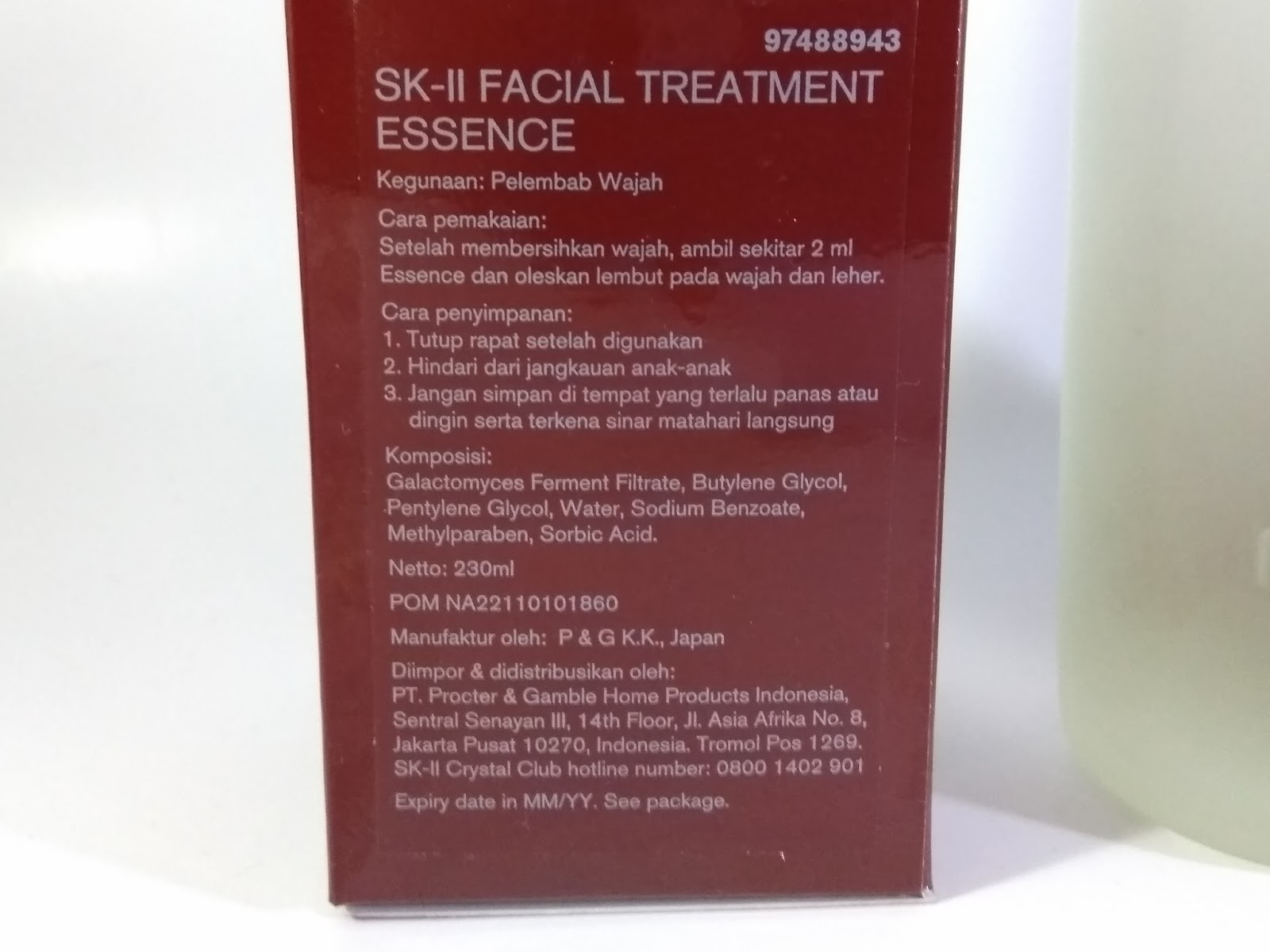 Sk Ii Facial Treatment Essence Review Fransiska Wenda Blog Fte 230ml Description