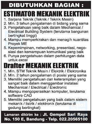 Lowongan Kerja Mekanik di Bandung
