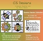 Summer Garden and Flower digital stamps