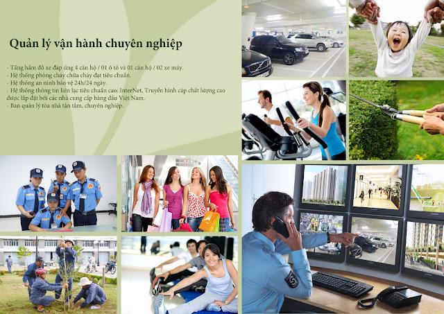 Tiện ích dịch vụ chất lượng với đơn vị quản lý chuyên nghiệp
