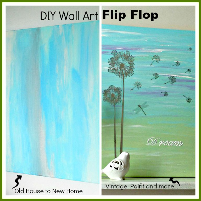 Vintage Paint and more... painted canvas with Dollar tree rub on  sc 1 st  Vintage Paint and more... & DIY Wall Art Flip - | Vintage Paint and more...