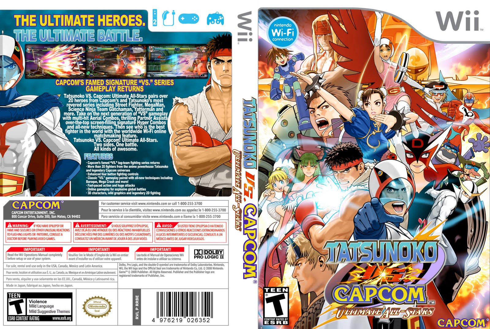 Games de Wii convertidos para Wii U  Tatsunoko%2BVS%2BCapcom%2BUltimate%2BAll-Stars%2B-%2Bwii