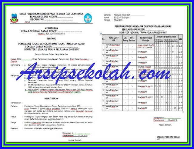 Download Contoh SK Surat Tugas Mengajar Guru Kurikulum 2013 & KTSP 2006 Versi Terbaru 2017