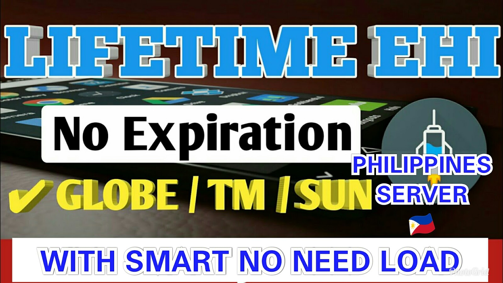 Philippine Server Lifetime Superfast ehi All Networks Download Now