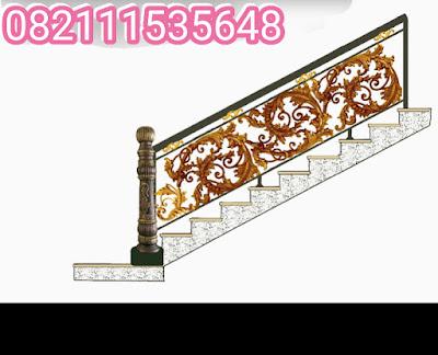 railing tangga besi tempa  adalah raling tangga mewah