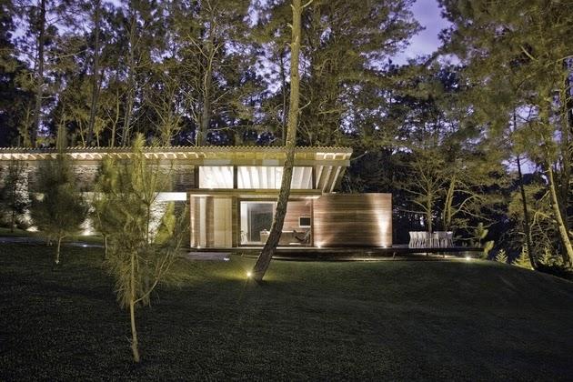 yang cocok untuk berakhir pekan dengan ukuran yang tidak terlalu besar Rancangan Ide Desain Rumah Kontemporer Alami