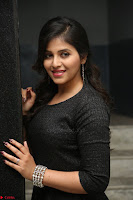 Anjali in Black Short Dress at Chitrangada Movie Success Meet ~  018.JPG