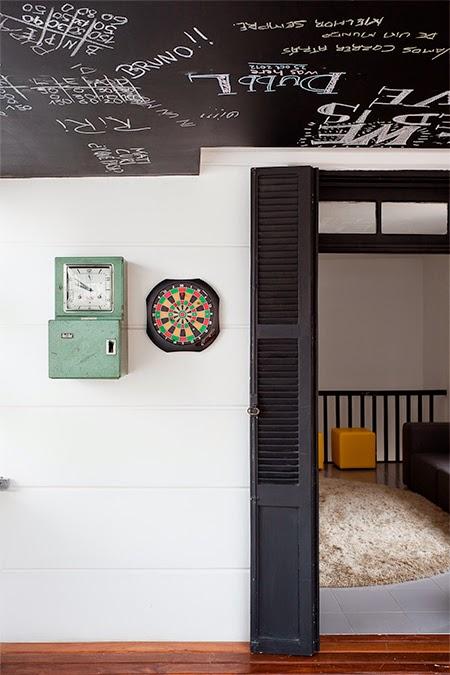 decoração, decoracao, vintage, industrial chique, industrial chic, hostel, tinta giz