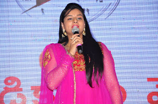 Anchor Mrudula Stills in Pink Salwar Kameez at Run Movie Gummadikaya Function  0005