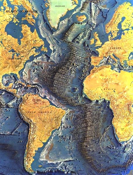 Unseen Details of Seafloor Exposed in These Maps of the Atlantic Ocean Floor