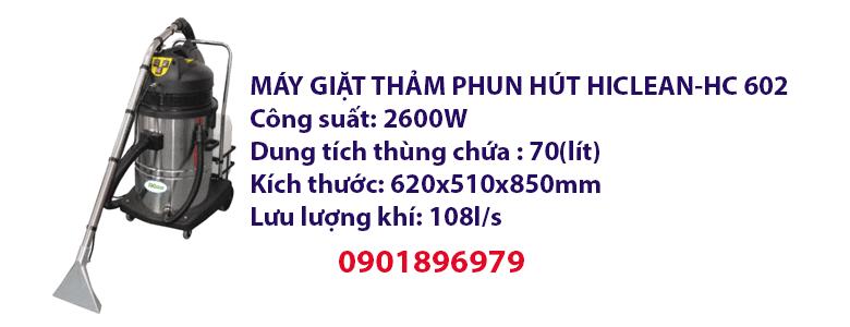 MÁY GIẶT THẢM PHUN HÚT HICLEAN-HC 602