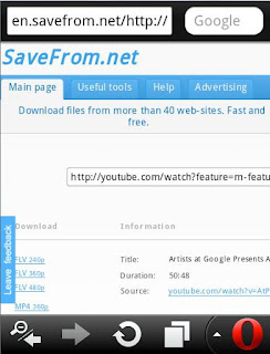 download Youtube Opera Mini
