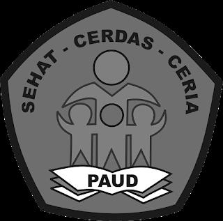 logo paud hitam putih
