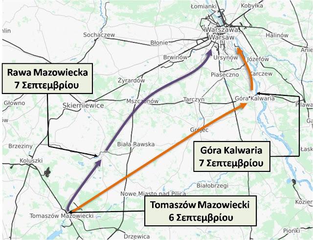 Η τελική προέλαση των δύο ΤΘΜ προς τη Βαρσοβία