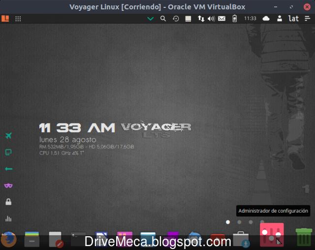 Ingresamos al Administrador de configuracion en Voyager