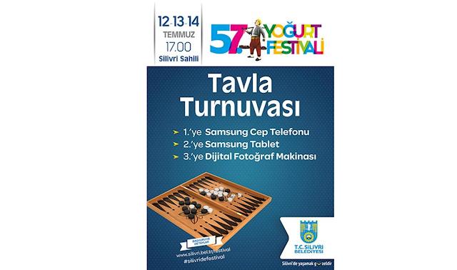 Silivri Belediyesi 57.Yoğurt Festivali Tavla Turnuvası
