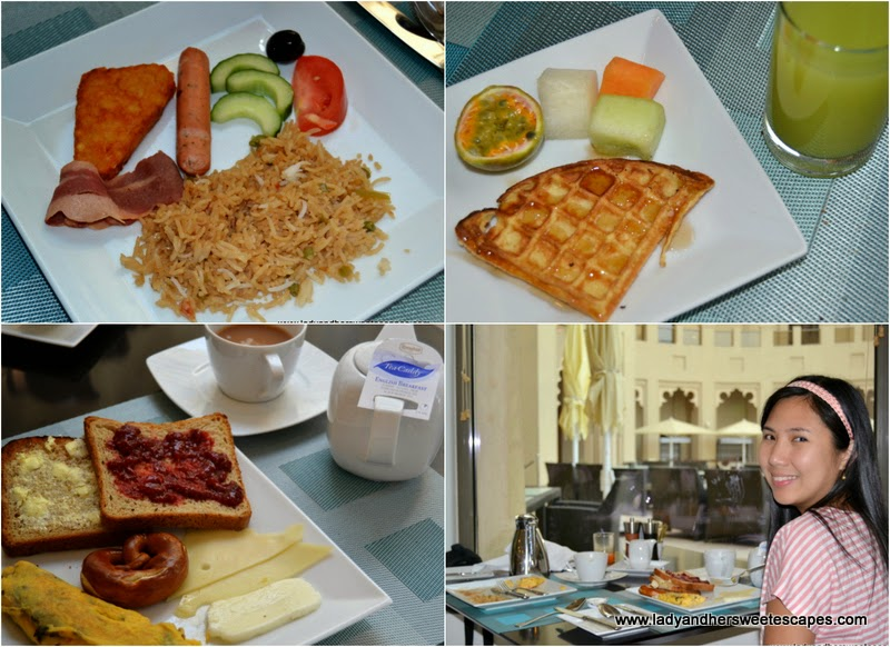 my colorful breakfast at The Ajman Palace