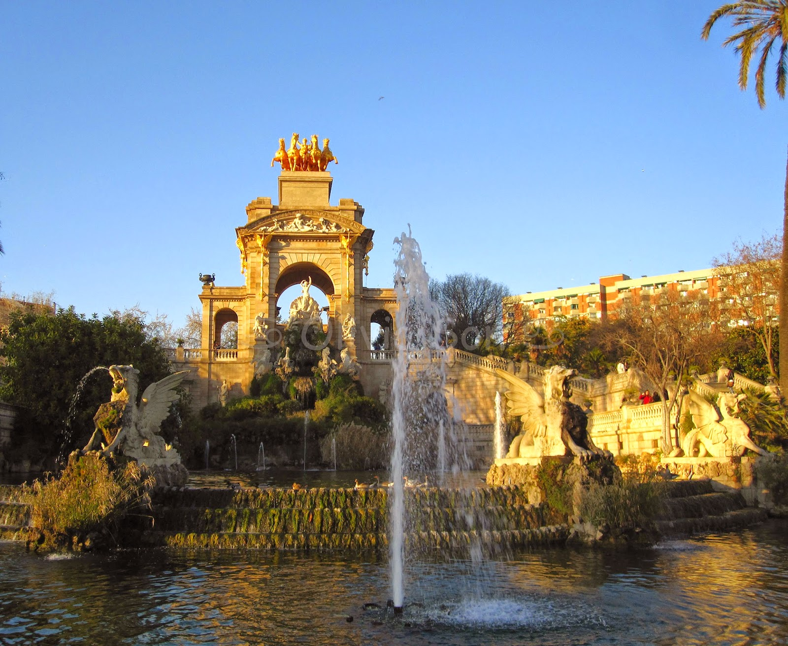 parc de la ciutadella barcelone, espagne, europe