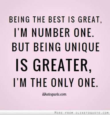 unique love quotes being the best is great, i'm number one.