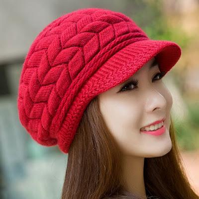 gorro feminino touca feminina chapeu quente cabeça mulher inverno look boina vermelha aba vermelho