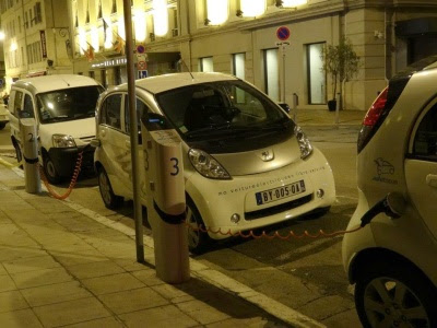 electric cars in Nice France