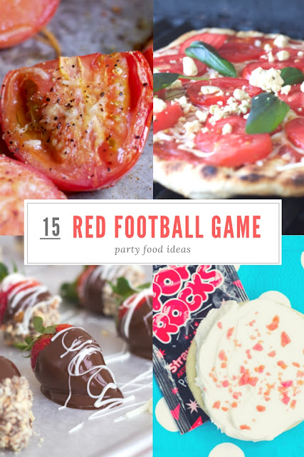 red football game party food ideas and appetizers