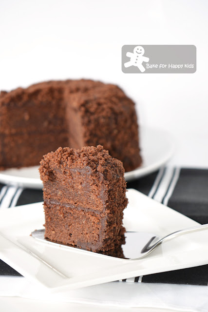 inside out hazelnut chocolate cake