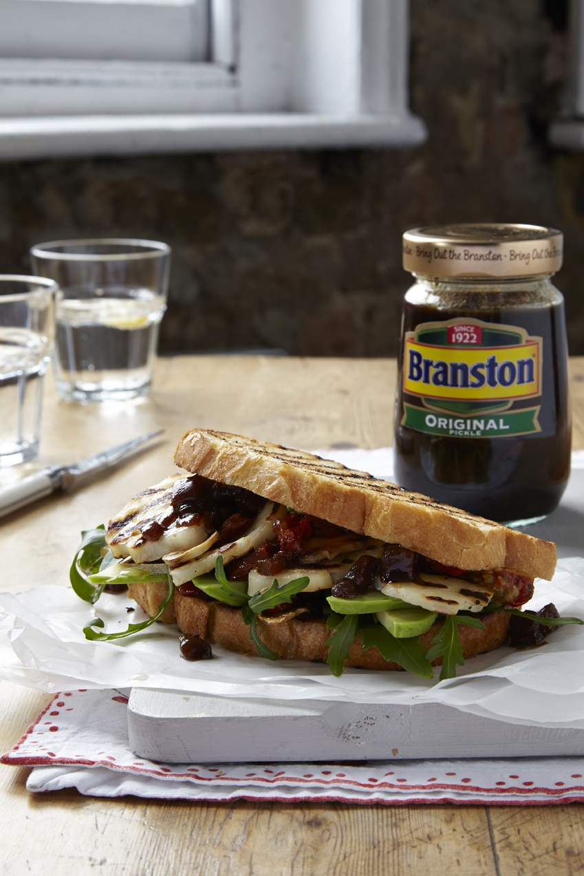 The Ultimate Halloumi Sandwich: Branston Pickle