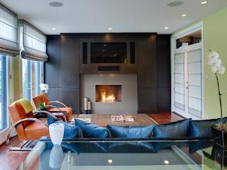 chimenea moderna en sala