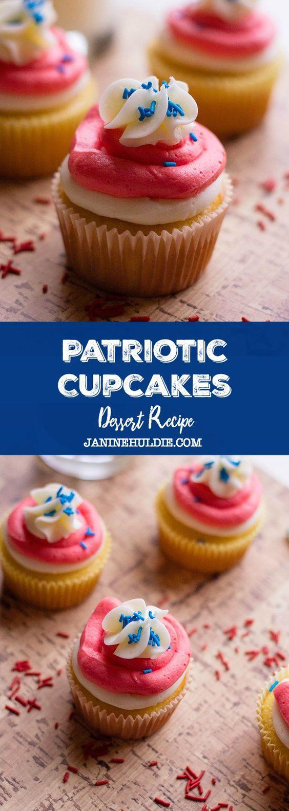 Patriotic Cupcakes(Valentine Recipe)