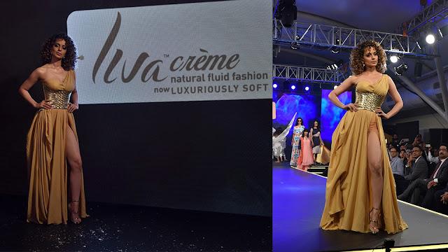 Kangana Ranaut Ramp Walk For Launch Event of LIVA CREME By Mr. Kumar Mangalam Birla