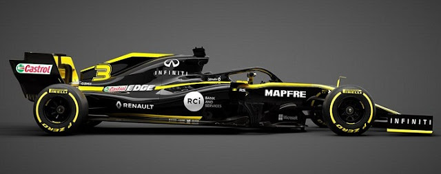Renault launches New Car RS19 for 2019 Formula 1.
