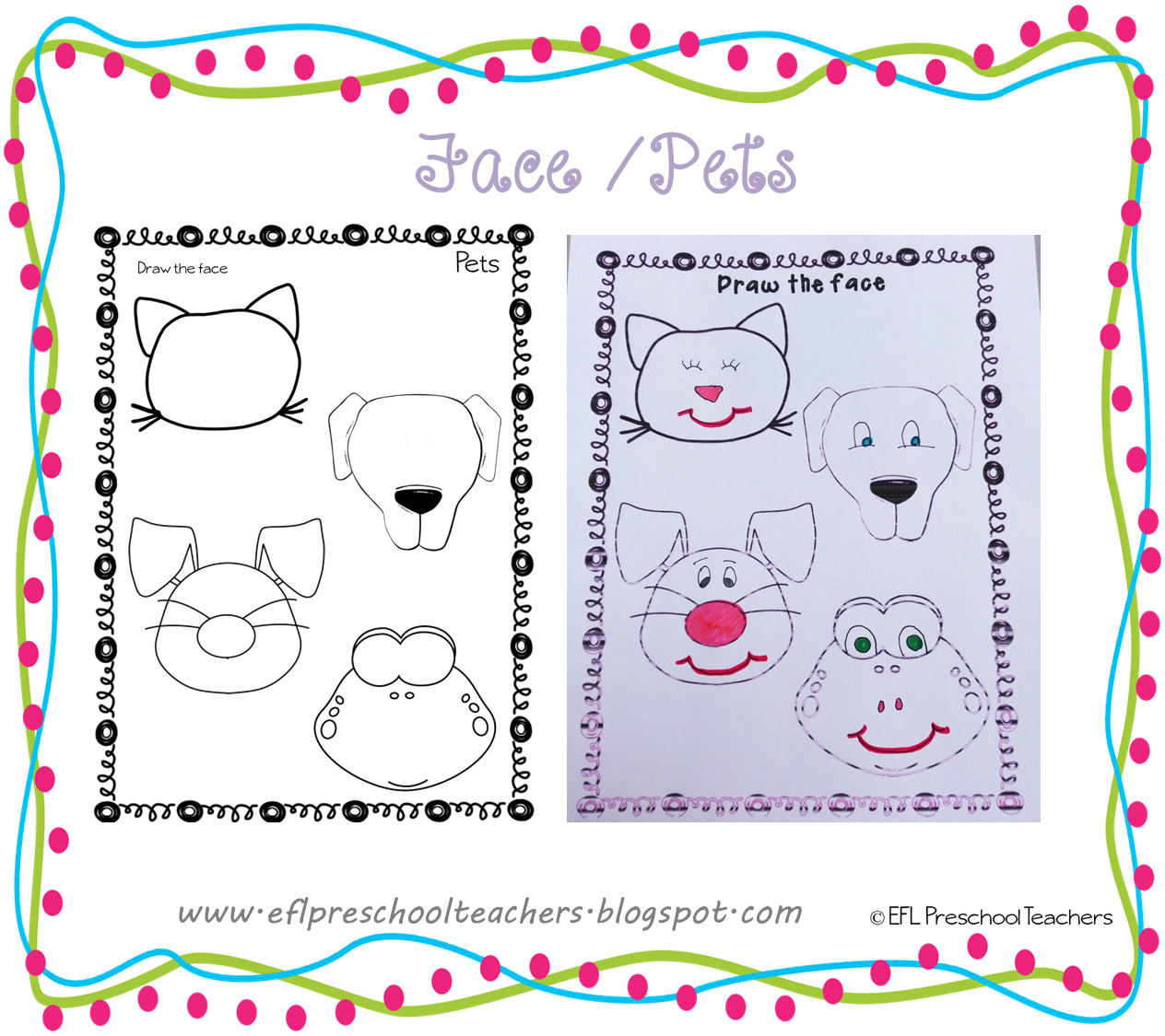 Esl Efl Preschool Teachers Face Teaching Materials For