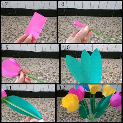 Tutorial Membuat Bunga Tulip Cantik dari Kertas Origami 2