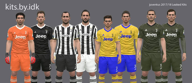 PES 2017 Juventus Leaked Kits 2017/18 by IDK