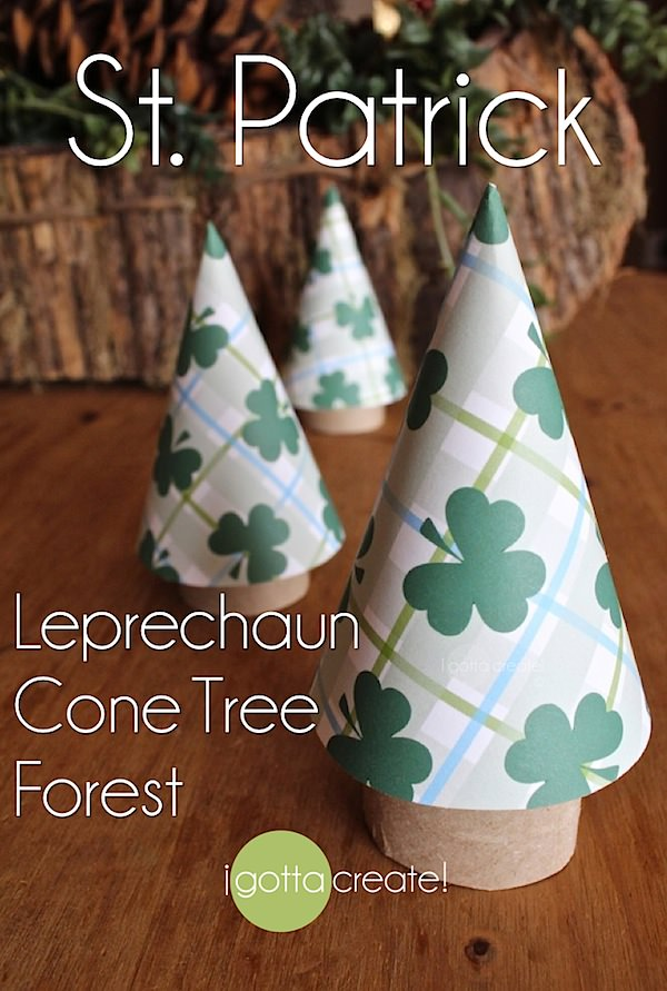 Make your own wee little #leprechaun forest for St. Patricks Day with this fun and easy tutorial from I Gotta Create!