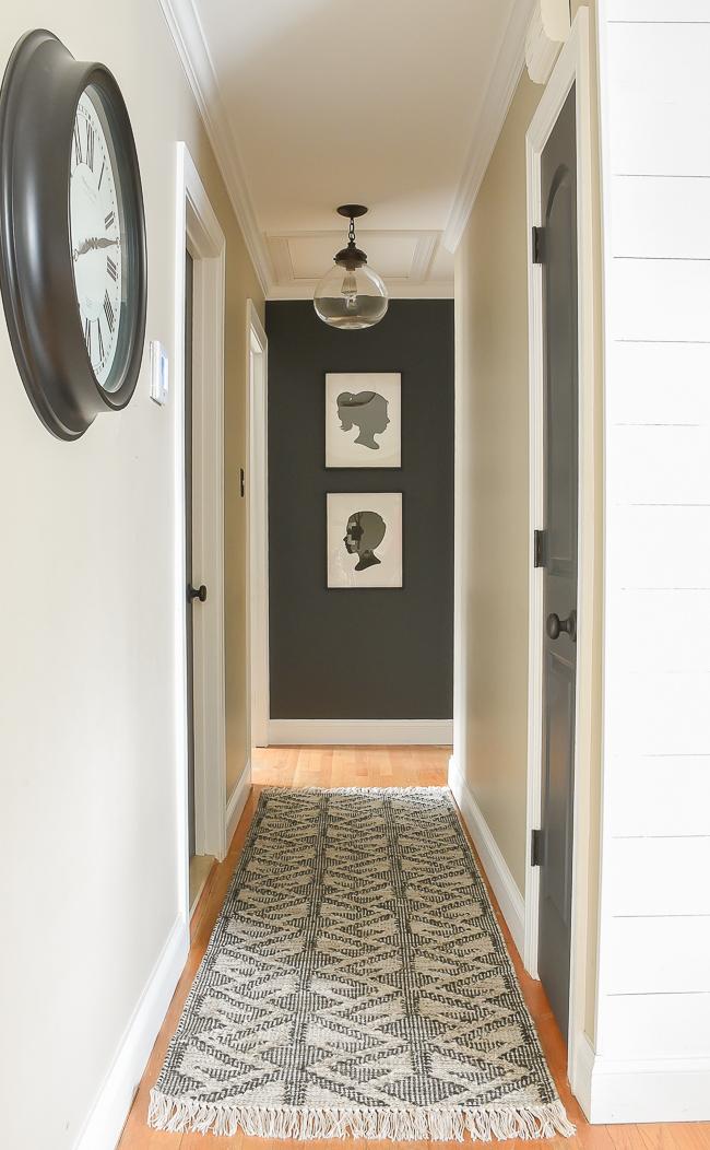 High contrast hallway